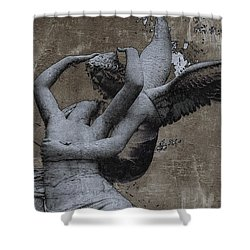 Paris - Surreal Angel Art - Eros And Psyche  Shower Curtain by Kathy Fornal