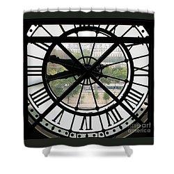 Paris Time Shower Curtain by Ann Horn