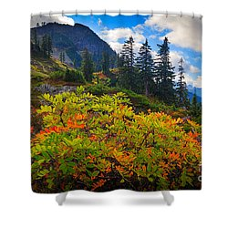 Park Butte Fall Color Shower Curtain by Inge Johnsson