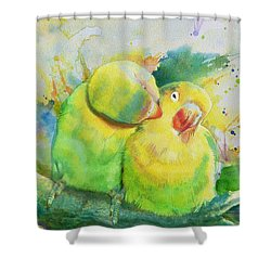 Parrots Shower Curtain by Catf