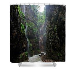 Partnachklamm Impression II Shower Curtain by Hannes Cmarits