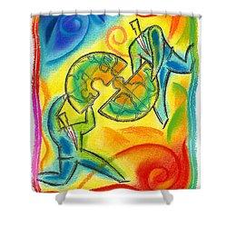 Partnership Shower Curtain by Leon Zernitsky