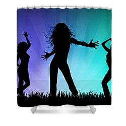Party People Shower Curtain by Aged Pixel