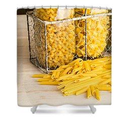 Pasta Shapes Still Life Shower Curtain by Edward Fielding