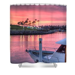Pastel Colored Sunset Shower Curtain by Heidi Smith