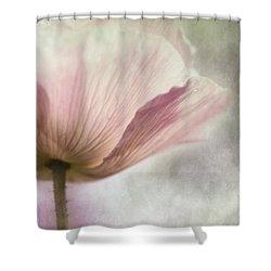 Pastel Pink Poppy Shower Curtain by Priska Wettstein