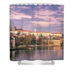 Pastel Prague Morning Shower Curtain by Joan Carroll
