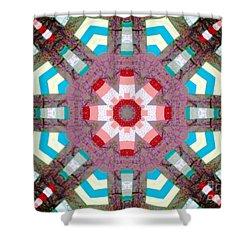 Patchwork Art Shower Curtain by Barbara Griffin