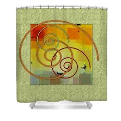 Patchwork II Shower Curtain by Ben and Raisa Gertsberg