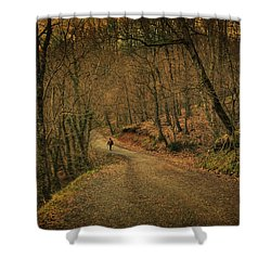 Path Shower Curtain by Taylan Soyturk