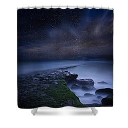 Path To Infinity Shower Curtain by Jorge Maia
