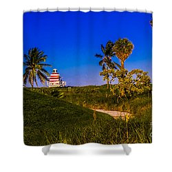 Pathway To The Beach Shower Curtain by Rene Triay Photography