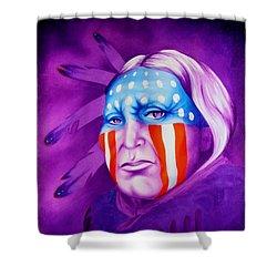 Patriot Shower Curtain by Robert Martinez