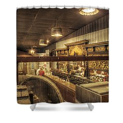 Patrons Of The Tasting Bar Shower Curtain by Jason Politte