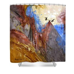 Peace Love And Joy Shower Curtain by Anthony Falbo