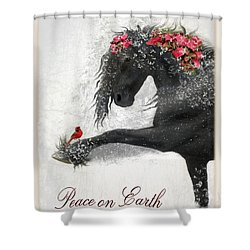Peace On Earth Shower Curtain by Fran J Scott