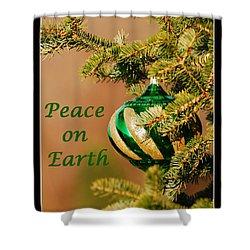 Peace On Earth Shower Curtain by Francie Davis