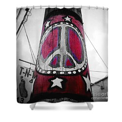 Peace Pole Shower Curtain by Scott Pellegrin