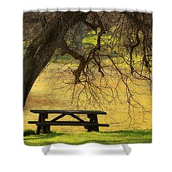 Peace  Shower Curtain by Rima Biswas