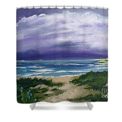 Peaceful Sunrise Shower Curtain by J Linder