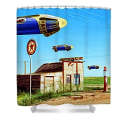 Peacekeepers Shower Curtain by Dominic Piperata