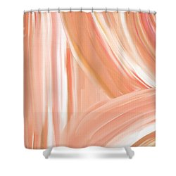 Peach Accent Shower Curtain by Lourry Legarde