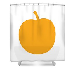 Peach Shower Curtain by Jackie Farnsworth