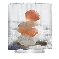 Peach Smoothie Shower Curtain by Barbara McMahon