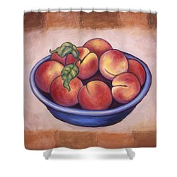 Peaches Shower Curtain by Linda Mears