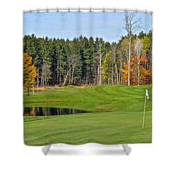 Peak N Peak Resort Shower Curtain by Frozen in Time Fine Art Photography
