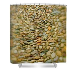 Pebbles  Shower Curtain by Rick  Monyahan