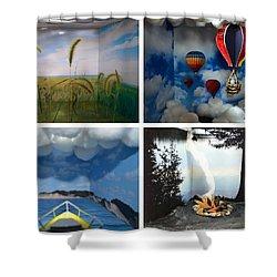 Peepholes Shower Curtain by Michelle Calkins