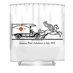Pegasus At Work For The Allies Shower Curtain by War Is Hell Store