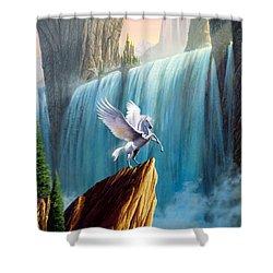 Pegasus Kingdom Shower Curtain by Garry Walton