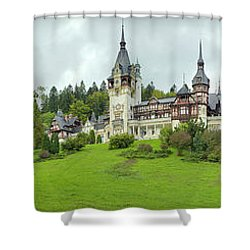 Peles Castle In The Carpathian Shower Curtain by Panoramic Images