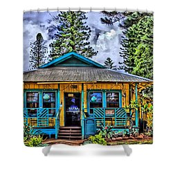 Pele's Lanai Island Hawaii Shower Curtain by DJ Florek
