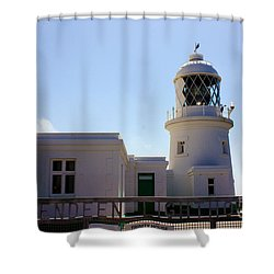 Pendeen Lighthouse Cornwall Shower Curtain by Terri Waters