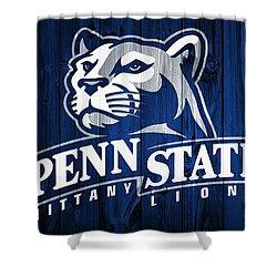 Penn State Barn Door Shower Curtain by Dan Sproul