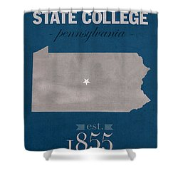 Penn State University Nittany Lions State College Pa College Town State Map Poster Series No 088 Shower Curtain by Design Turnpike
