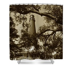 Pensacola Lighthouse Shower Curtain by Skip Willits