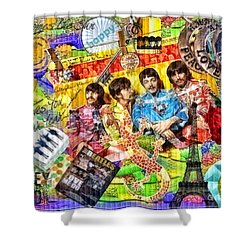 Pepperland Shower Curtain by Mo T
