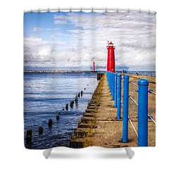 Pere Marquette Shower Curtain by Debra and Dave Vanderlaan