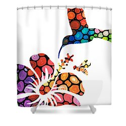 Perfect Harmony - Nature's Sharing Art Shower Curtain by Sharon Cummings