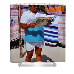 Perfect Posture Portrait Shower Curtain by John Malone