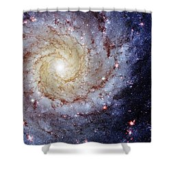 Perfect Spiral Shower Curtain by Benjamin Yeager