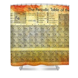 Periodic Table Of The Elements Shower Curtain by Georgia Fowler