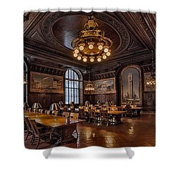 Periodicals Room New York Public Library Shower Curtain by Susan Candelario