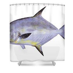 Permit Shower Curtain by Carey Chen