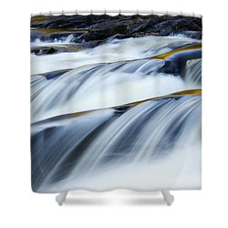 Perpetual Falling Shower Curtain by Aimelle