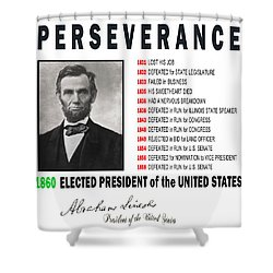 Perseverance Of Abraham Lincoln Shower Curtain by Daniel Hagerman